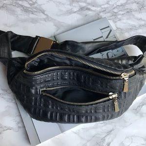 Handbags - NWT Black Quilted Belt Bag